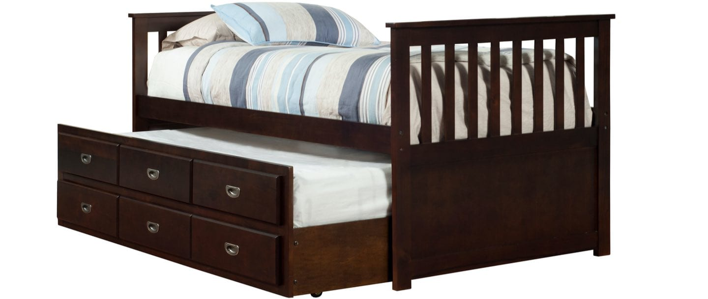 Trundle Bed Frame with mattresses