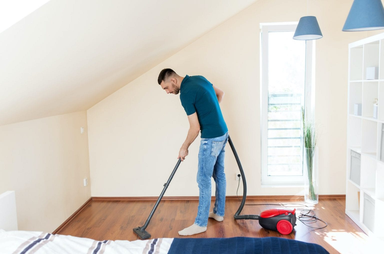 cleaning bedroom
