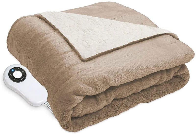Serta Perfect Sleeper Reversible Heated Throw